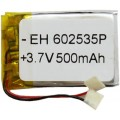 Аккумулятор 3.7V, 500mAh, (6.0*25*35mm) 602535