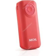 Внешний аккумулятор ''Michl'' 1 USB выход 1А, красный