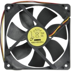 Вентилятор для корпуса Gembird 120x120x25mm, ball, узкий разъем 3 pin (FANCASE3/BALL)