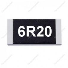 Резистор SMD 6.2 Ом, 1206, 1%, 0.25Вт, (6R2)
