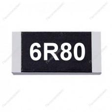 Резистор SMD 6.8 Ом, 1206, 1%, 0.25Вт, (6R8)