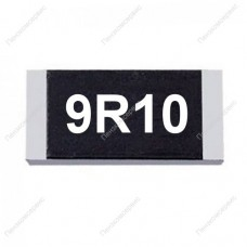 Резистор SMD 9.1 Ом, 1206, 1%, 0.25Вт, (9R1)
