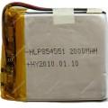 Аккумулятор 3.7V, 2000mAh, (8.5*45*51mm) 854551