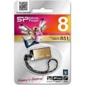 Носитель информации Silicon Power USB Drive 8Gb Touch 851 SP008GBUF2851V1G (USB2.0, Gold)