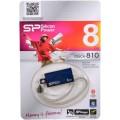 Носитель информации Silicon Power USB Drive 8Gb Touch 810 SP008GBUF2810V1B (USB2.0, Blue)