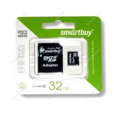 Карта памяти Micro SD 32Гб (sb32gbsdcl10-01)