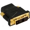 Переходник HDMI-DVI-D 19F/19M (мама-папа), золотые разъемы Gembird [A-HDMI-DVI-2]