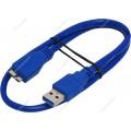 Кабель USB 3.0 Pro Gembird/Cablexpert CCP-mUSB3-AMBM-0.5M , AM/microBM 9P, 0.5м, экран, синий