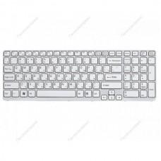 Клавиатура для ноутбука Sony SVE 15 (белая) с русскими буквами  с рамкой