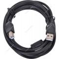 Кабель USB 2.0 Gembird PRO CCF-USB2-AMBM-6, AM/BM, 1.8 м, позол.конт., фер.кольца